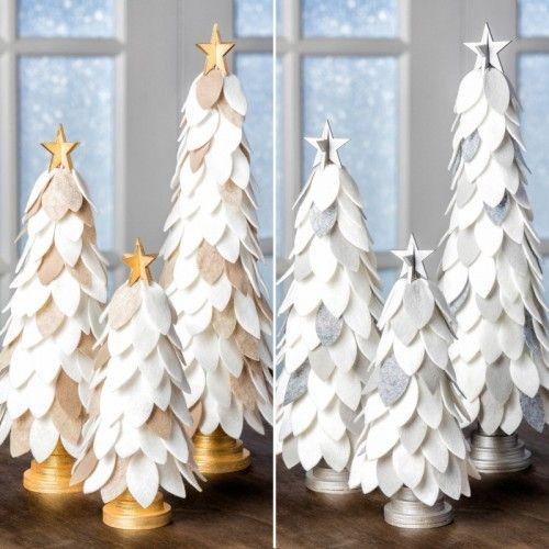 Felt Christmas Cone Trees