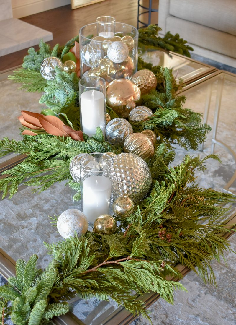 Green and Gold Fresh Evergreen Christmas Home Tour