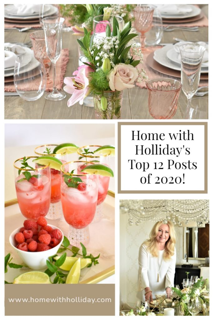A collage of Home with Holliday's Top 12 Posts of 2020