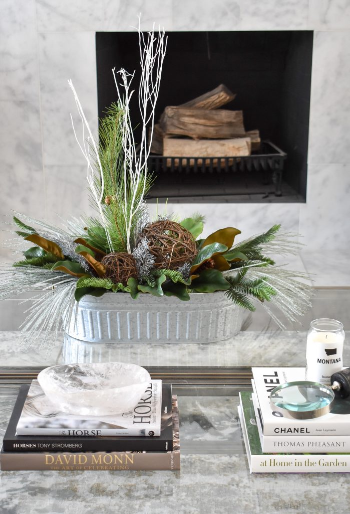 Winter centerpiece to help Transition your Decor from Christmas to Winter
