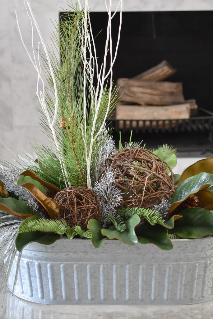 A winter-themed centerpiece to help Transition your Decor from Christmas to Winter
