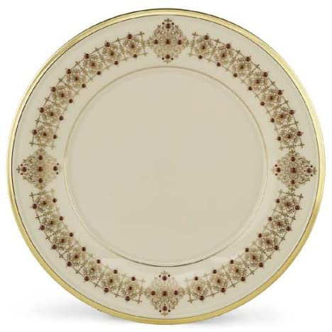 A red Lenox Eternal Accent Plate on a Valentine's