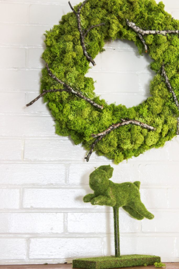 A moss wreath to use for your spring decor