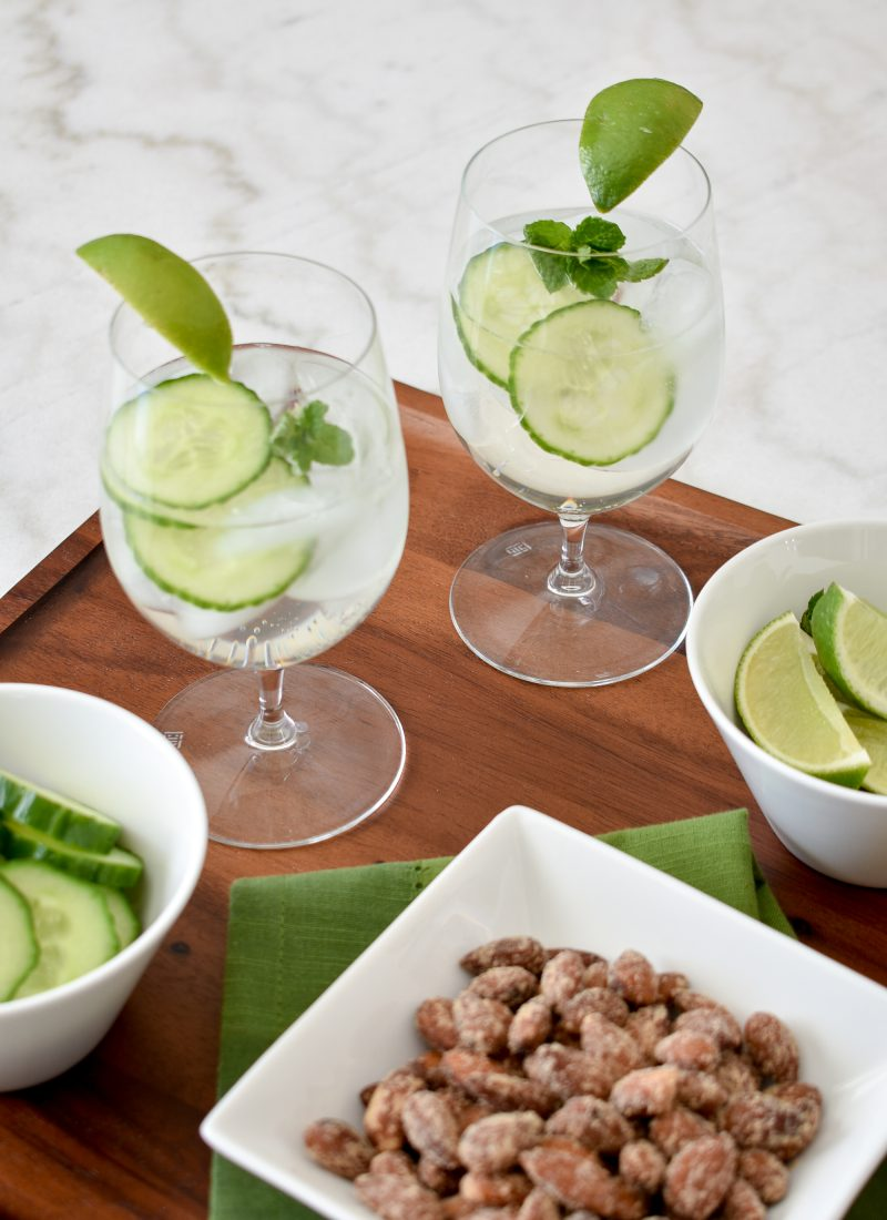 Cucumber and Mint Infused Vodka Cocktail