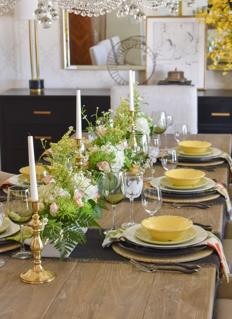 A Spring Tablescape with Bold Colors