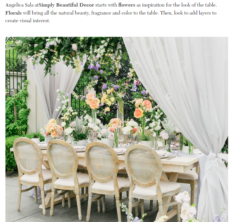 Iconic Life Magazine Feature on Modern Tablescapes - A beautiful outdoor tablescape