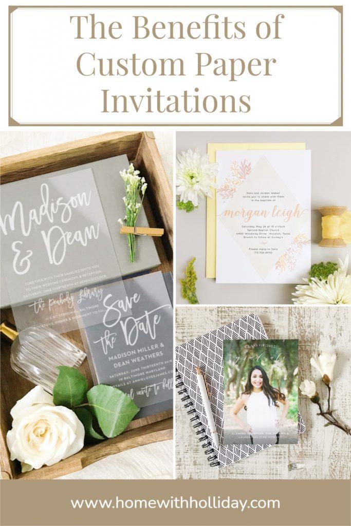 The Benefits of Custom Paper Invitations