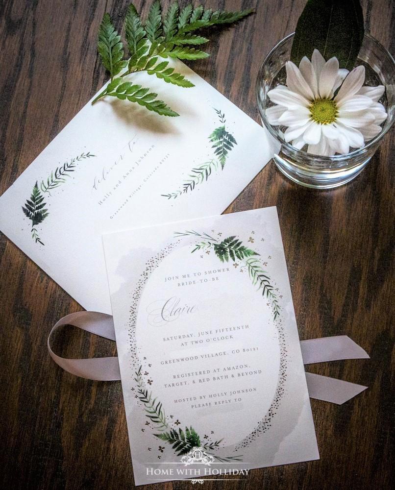 A sample of a bridal shower invitation