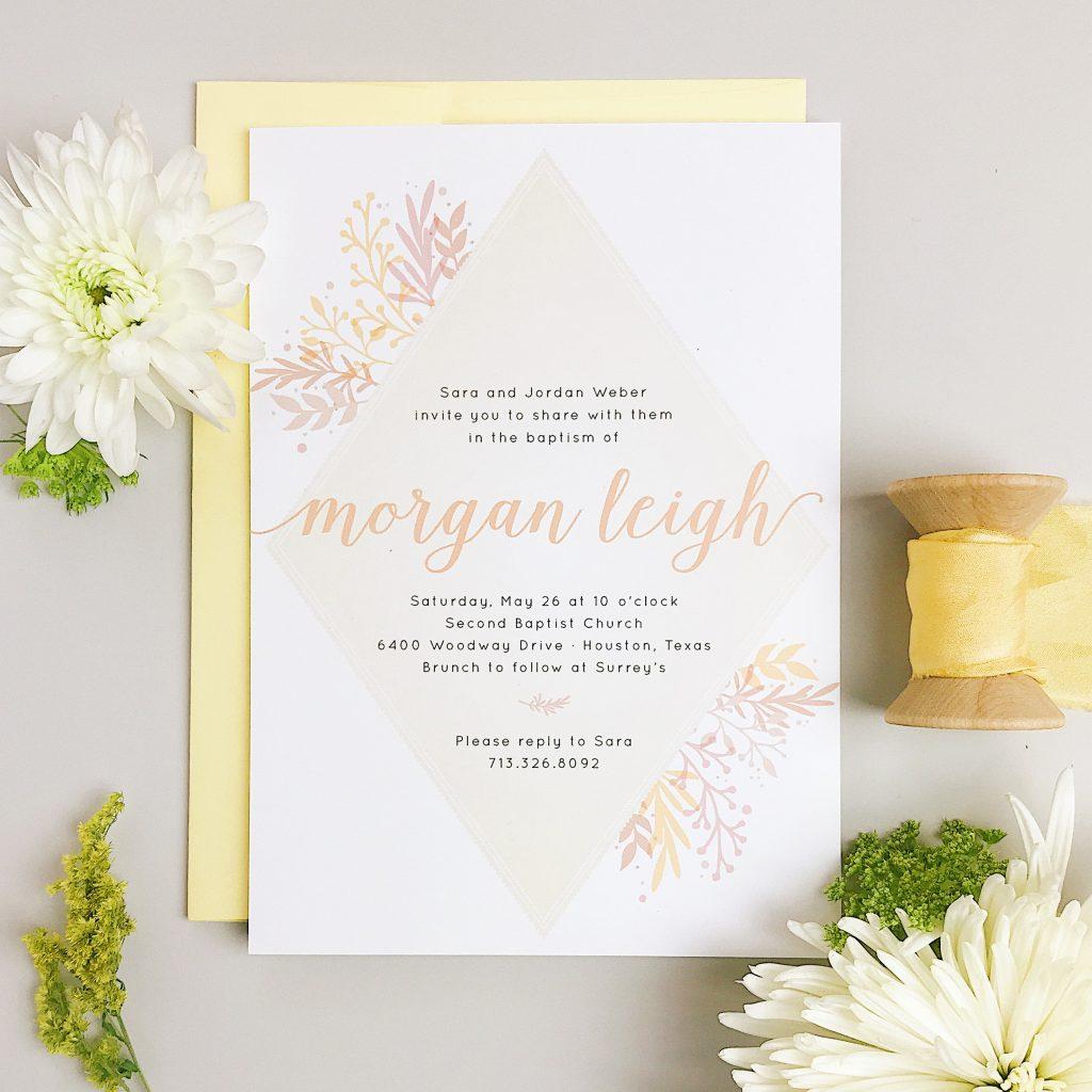 A Springy Custom Paper Invitations