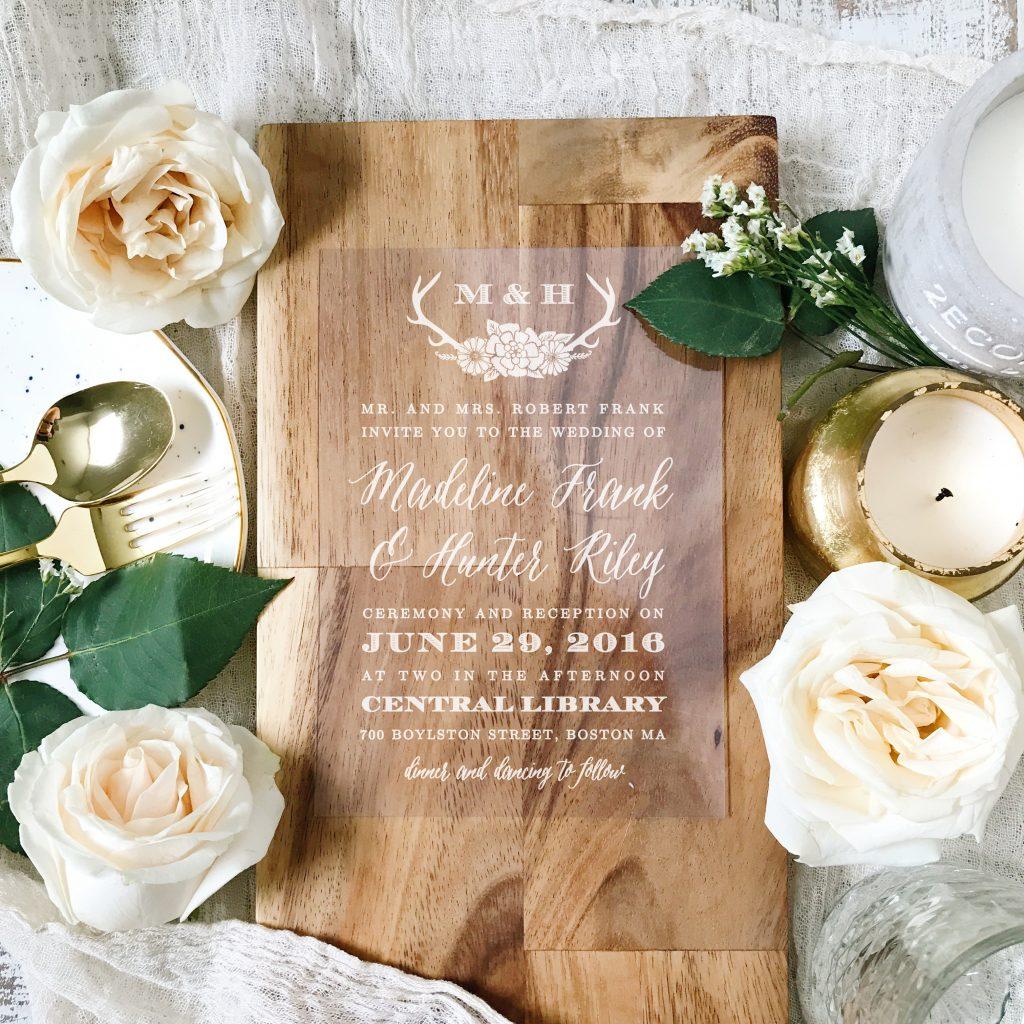 A sample of a wedding invitation