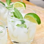 A Lime and Mint Tequila Spritzer