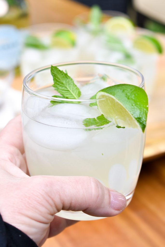 A Refreshing Lime and Mint Tequila Spritzer