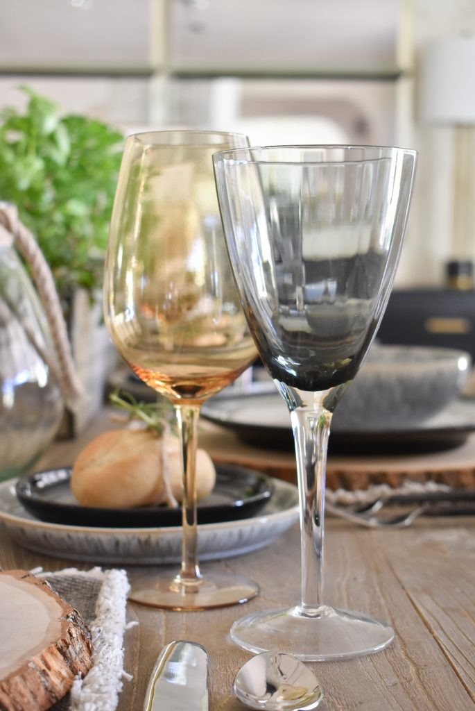 Stemware on a Sophisticated Father's Day Table