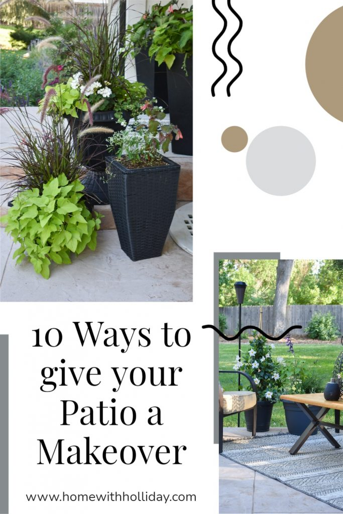 A Collage of 10 Ways to give your Patio a Makeover