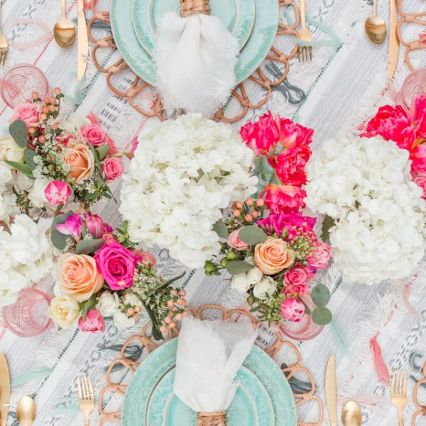 A Colorful Summer Alfresco Tablescape