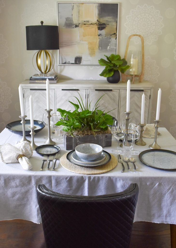 A Casual and Romantic Tablescape for Two