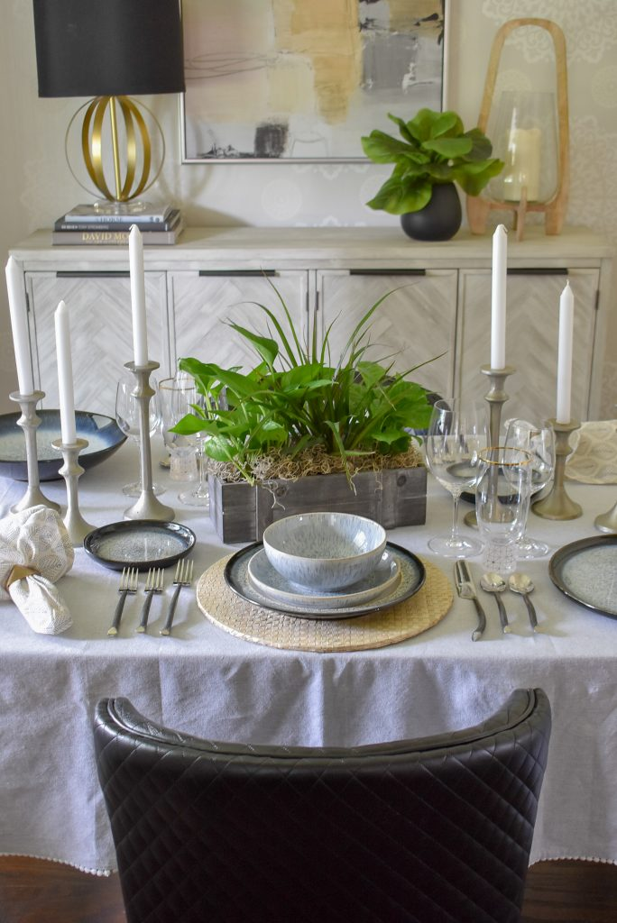 A Casual and Romantic Tablescape for Two with candles