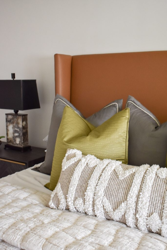 Bedding in a Classic Contemporary Master Bedroom