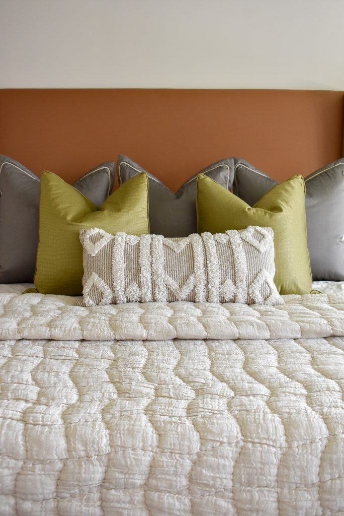 Bedding in a Classic Contemporary Master Bedroom Reveal
