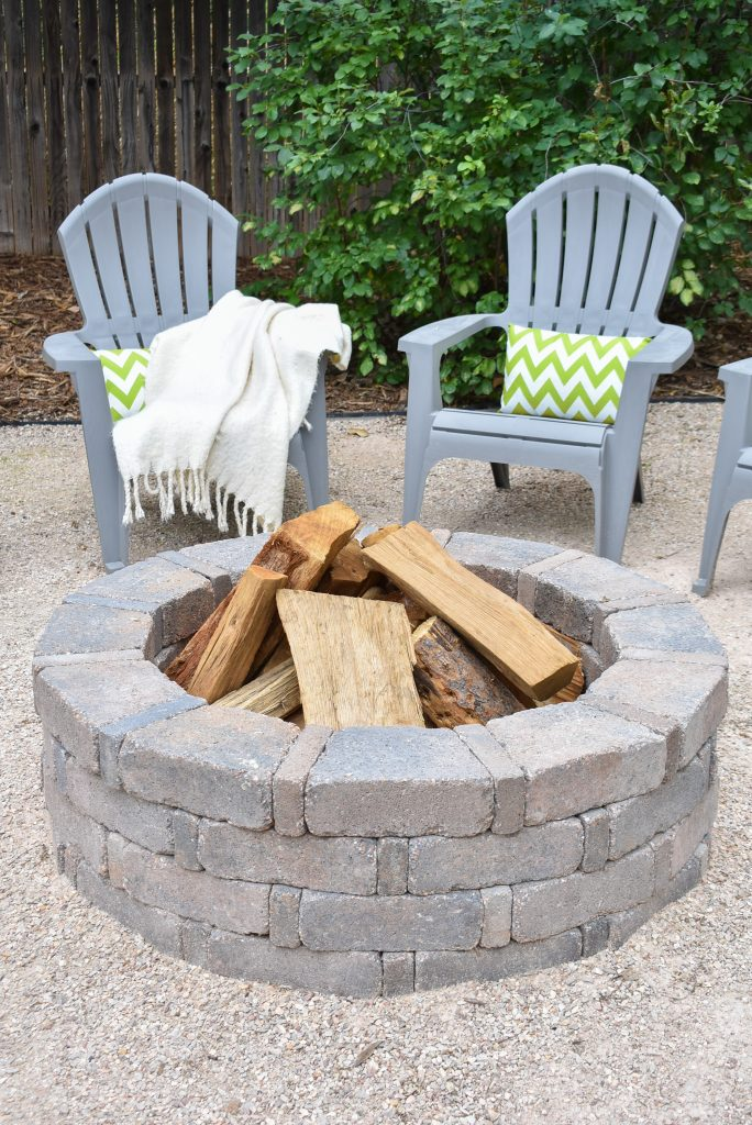 Firepit on Our New Cozy Firepit Area for Fall
