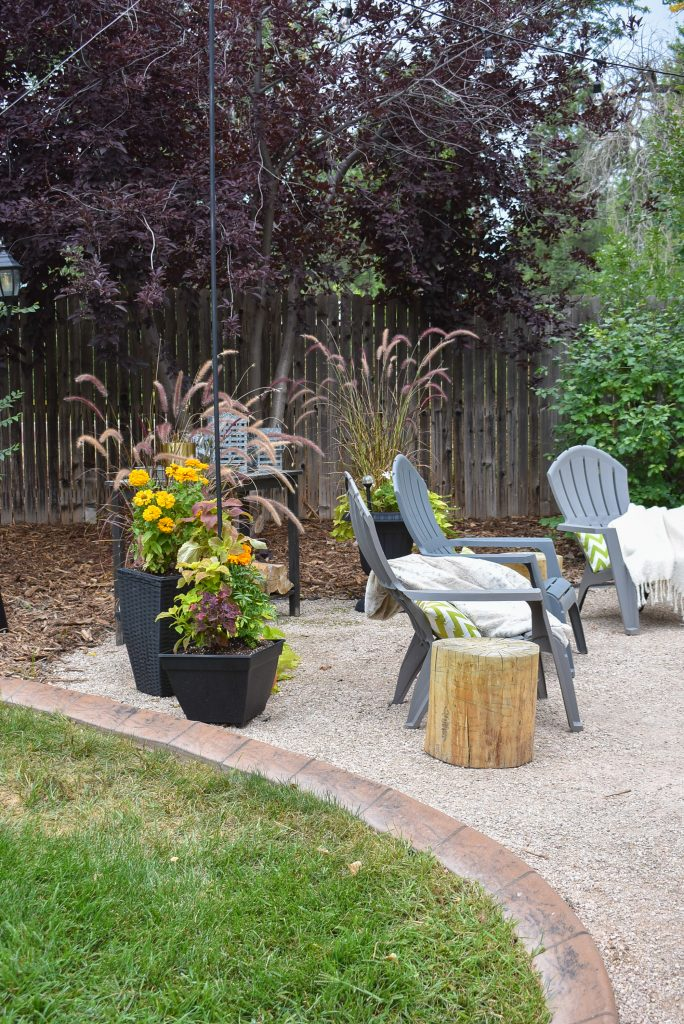 A New Cozy Firepit Area for Fall