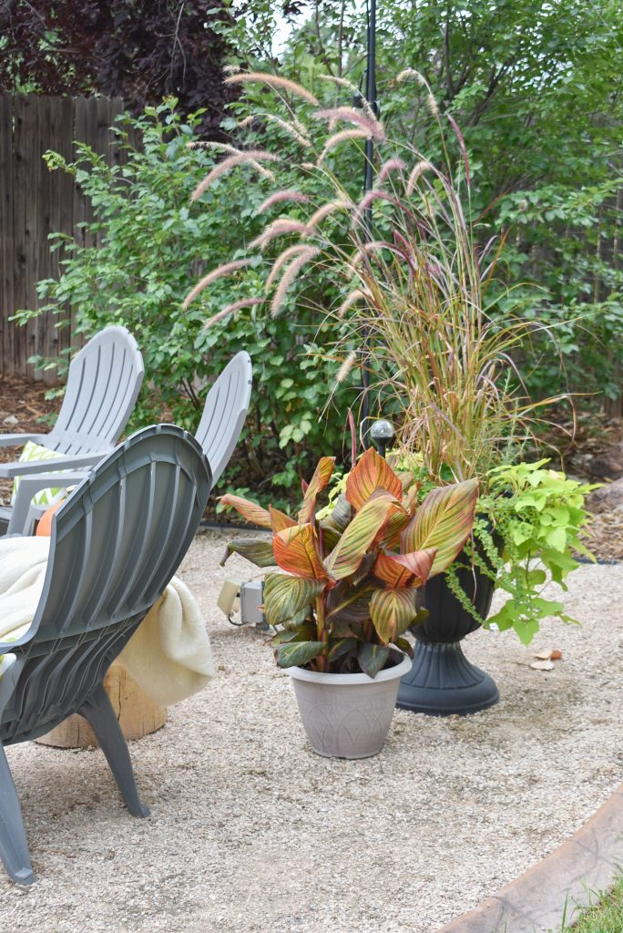 Fall Plantings on a New Cozy Firepit Area for Fall
