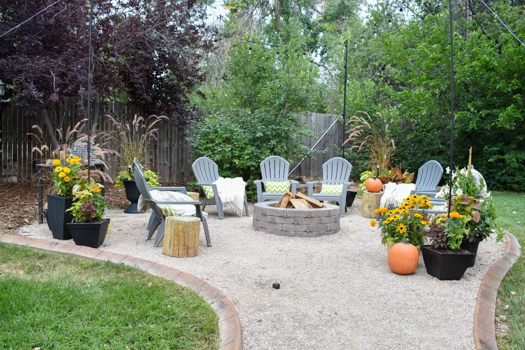 Our New Cozy Firepit Area for Fall