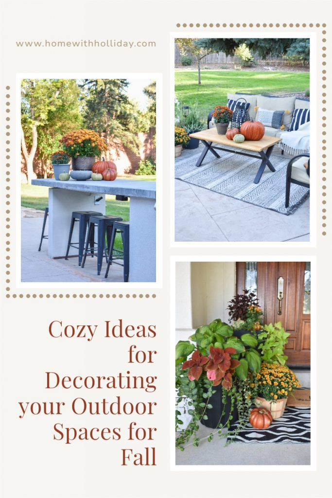 A collage of Cozy Ideas for Decorating your Outdoor Spaces for Fall