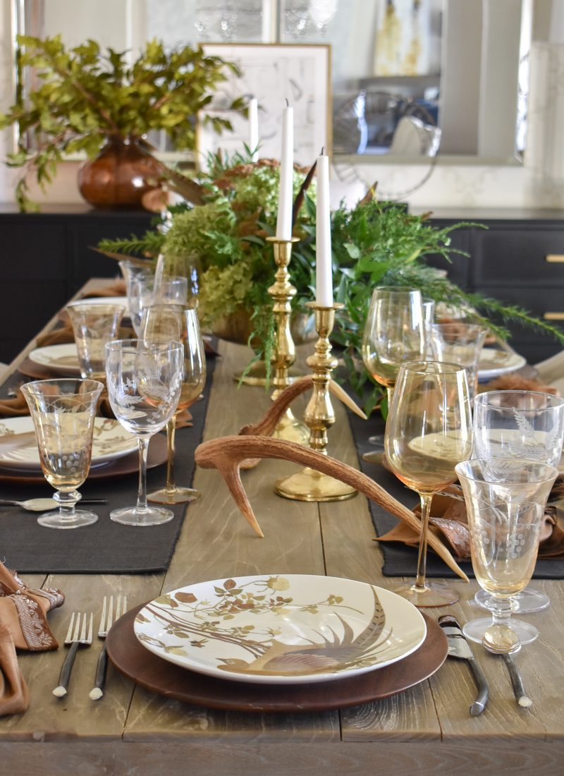 A Fall Wild Game Dinner Party Tablescape